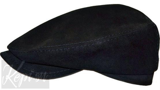 Кепка замшевая реглан (черная и коричневая)
